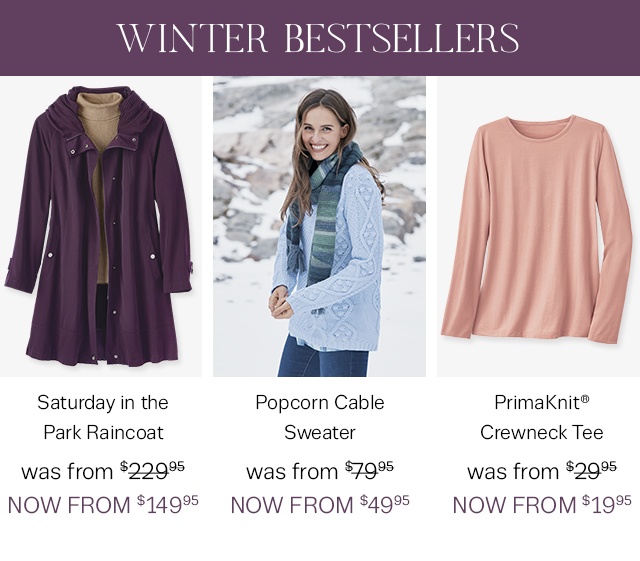 Shop our new Winter Bestsellers on sale!!