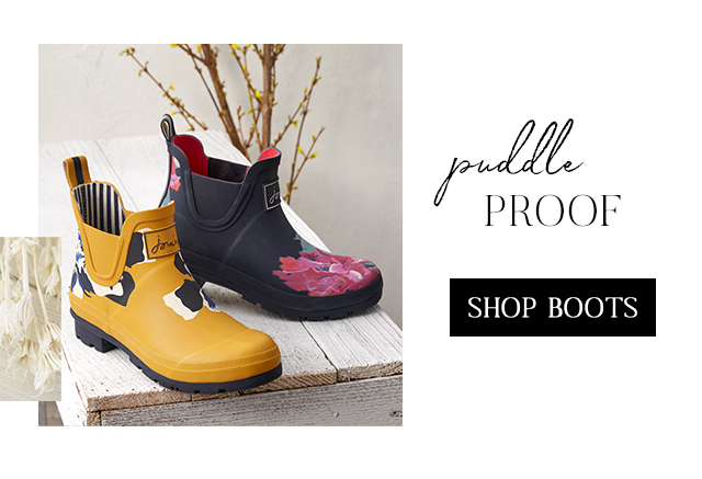 Spring showers need puddle proof boots. Shop them now!