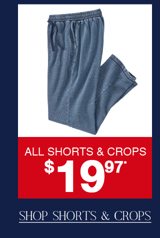 Last day to shop shorts and crops for only $19.97!