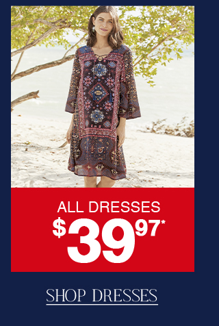 Last day to shop dresses now for only $39.97!
