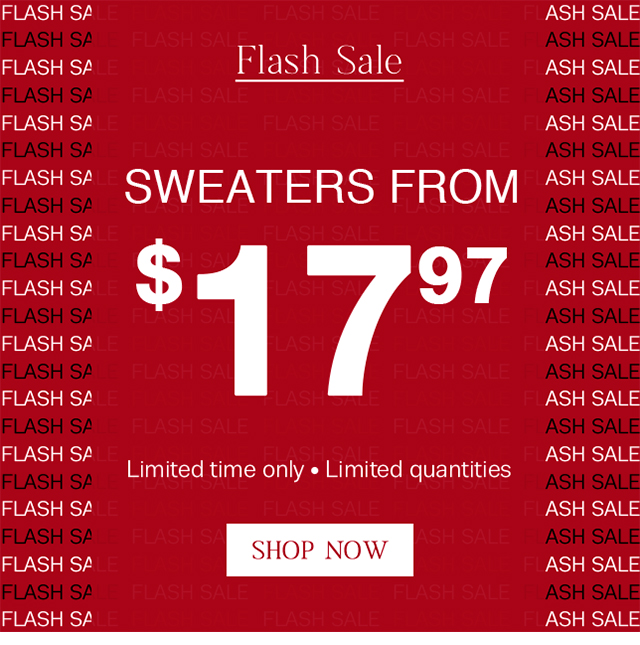 Shop ALL sweaters, starting at $17.97!