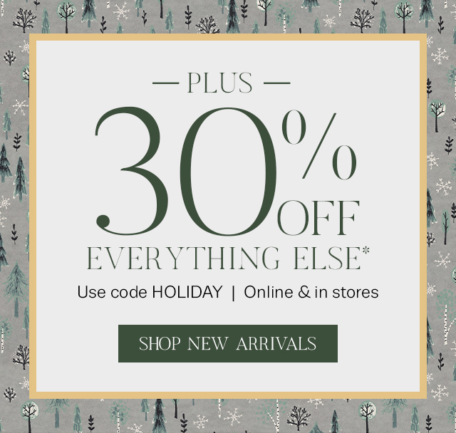 Plus 30% off the rest of your purchase!
